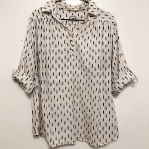 Steven Alan Bleeding Madras Collared Shirt - Large